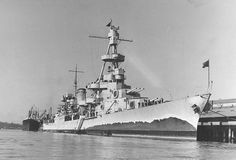 A pre war look at the heavy cruiser USS Salt Lake City. Who needs radar and all that other stuff, and nice false bow wave.