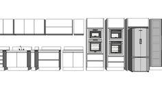 Large preview of 3D Model of Módulos para Cozinha
