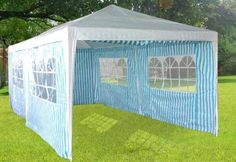 High Quality 10' X 20' White & BlueParty Tent with Windows $189.95 at Saferwholesale