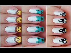03 UNHAS DECORADAS DE BICHINHOS (Mais Fáceis do Mundo) - Nails Art of Pe...