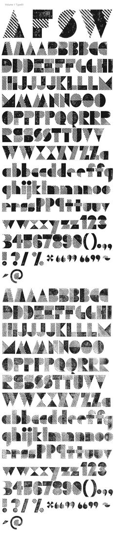 """Letterpress Type by The Organic Type as seen on t26.com — These could be fun to use if you don't have access to or are unable to do your own letterpress printing. Fun for a """"style"""" thing. #letterpress #faux #design"""