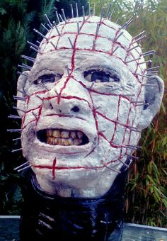 Pinhead/ Hellraiser inspired large bust. by HappyHappyProps on Etsy