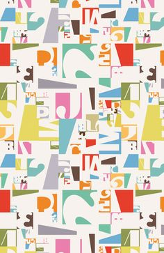 I love this! wallpaper design for Your Wallpaper by Swedish illustrator Kari Moden www.karimoden.se/