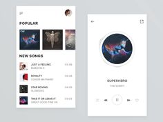 Music Player Demo by INNOCENCE LOST #Design Popular #Dribbble #shots