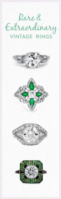 From Georgian-era treasures to modern estate rings with impressive center gems, these breathtaking antique and vintage pieces are truly exceptional.