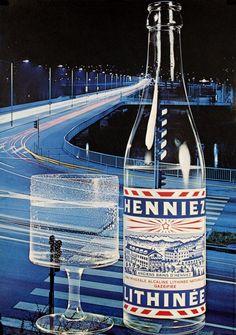 1965 Henniez Lithinée sparkling mineral water, Swiss vintage advert poster