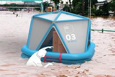 Emergency Shelter Falls From The Sky For Immediate Disaster Relief