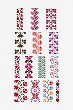 Point de marque - pattern - Free Cross Stitch Patterns, You can produce really specific styles for textiles with cross stitch. Cross stitch models can very nearly surprise you. Cross stitch novices could make the models they desire without difficulty. Cross Stitch Boarders, Cross Stitch Bookmarks, Cross Stitch Flowers, Cross Stitch Charts, Cross Stitch Designs, Cross Stitching, Cross Stitch Embroidery, Embroidery Patterns, Beginner Cross Stitch Patterns Free