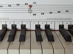 Passt perfekt hinten den schwarzen Tasten der meisten Klaviere, Pianos oder Keyboards!