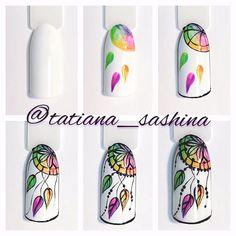 Acrylic Nail Designs Pros And Cons New Nail Art, Nail Art Diy, Easy Nail Art, Cool Nail Art, Nail Manicure, Diy Nails, Cute Nails, Pretty Nails, Nail Drawing