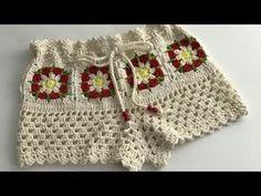 Sublime Crochet for Absolute Beginners Ideas. Capital Crochet for Absolute Beginners Ideas. Crochet Shorts Pattern, Crochet Poncho, Crochet Stitches, Knit Crochet, Crochet Patterns, Crochet Ideas, Crochet Towel Holders, Bikinis Crochet, Baby Bikini
