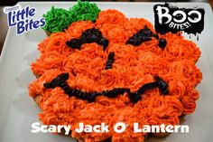 Here's an awesome Halloween party idea for an edible centerpiece! Get the recipe here: https://littlebites.com/recipe/scarily-delicious-jack-o-lantern