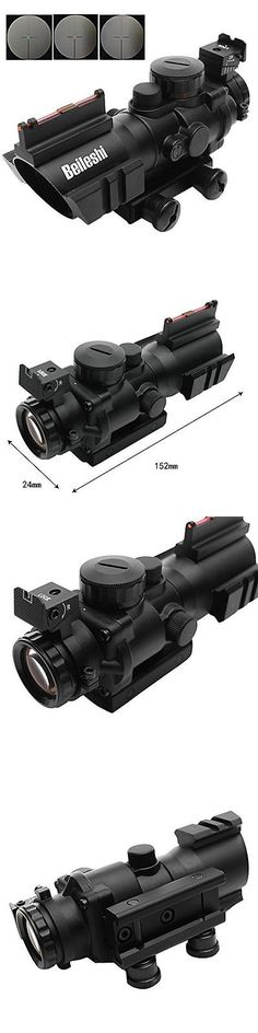 Other Electric Airsoft Guns 31684: Rifle Scope With Top Fiber Optic Sight Weaver Slots Triple Illuminated 4 X 32Mm -> BUY IT NOW ONLY: $79.95 on eBay!