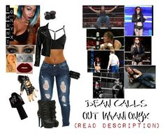 """Dean Calls Out Imani Onyx"" by raine-wwe ❤ liked on Polyvore featuring VIPARO, Valentino and Lime Crime"
