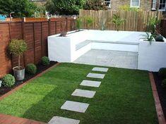 Backyard Seating, Small Backyard Patio, Modern Backyard, Backyard Patio Designs, Garden Seating, Backyard Landscaping, Terrace Garden, Gravel Patio, Garden Plants