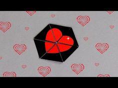 DIY - HEXAFLEXAGON ENDLESS CARD - TUTORIAL / VALENTINE'S DAY CARD IDEAS / DIY CARD - YouTube