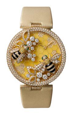 Cartier Bees Decor Watch - Quartz, yellow gold, diamonds