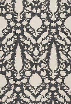 Chenonceau Charcoal Wallpaper 5004123 by Schumacher Wallpaper. 50 Year Anniversary Sale - Up to off everything extended through June Textiles, Textile Patterns, Textile Prints, Textile Design, Sewing Patterns, Fabric Wallpaper, Of Wallpaper, Pattern Wallpaper, Bathroom Wallpaper