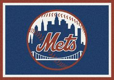 "MLB Team Spirit 5'4""x7'8""  - New York Mets CarpetExpress.com"