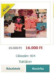 Szombati akció! 10Kg extra ruha csomag 16.000Ft+1250Ft posta.  http://www.minivarazs.hu/10_kg_extra_ruha_csomag_881