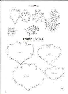 Çiçek şablonları (templates) https://www.facebook.com/YapayCicekKaliplari