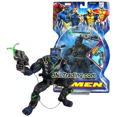 ToyBiz Year 2005 Marvel X-Men 6 Inch Tall Action Figure - STEALTH BEAST (Dr. Hank McCoy) with Pistol and Grappling Hook Launcher