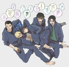 """かんぽんたん🐖 trên Twitter: """"妙に仲のいい伊達班… """" Dc Police, Police Story, Gosho Aoyama, Amuro Tooru, Detektif Conan, Shizaya, Kudo Shinichi, Magic Kaito, Case Closed"""