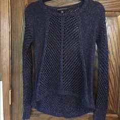 Navy Blue Sparkly Sweater Beautiful Sweater in perfect condition and has never been worn Rock & Republic Sweaters Crew & Scoop Necks