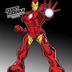 Iron Man toy box illustration #superhero #hasbro #marvel #ironman #illustration #childrensillustration #vectorillustration