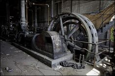 An abandoned ice factory.