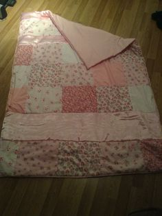 Baby pink quilt (with view of other side)