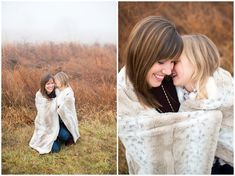 mother daugther poses, mother daughter photo session, coordinating your outfits, foggy morning portraits, portraits in the fog, white fur vest in portraits, girls ankle boots, floppy hat, how to wear a floppy hat in your photo shoot, christmas tree portraits, winter family session, the perfect daughter outfit, lacey rene studios