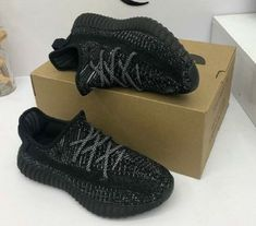 795c9333d42e0 New Authentic unisex Adidas Yeezy Boost 350 Full Black Size