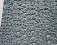 Easy Crochet Blanket Pattern Interlocking Shell by KathieSewHappy