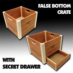 Here is a detailed guidebook of how you can build a fake bottom wooden crate project . Everyone adore to build useful household items that provide top secret compartment to cloak private treasures within . Check the instructions!
