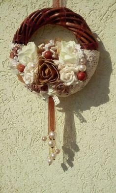 Nyári vintage ajtódísz Door Wreaths, Vintage, Primitive