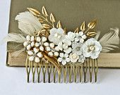 Vintage hair comb (make from mom/grandma's jewelery) - something old?
