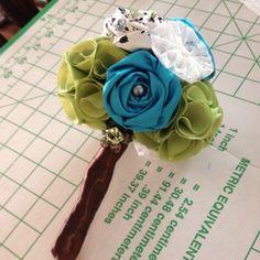 DIY fabric flowers bouquet. by stella_fresa