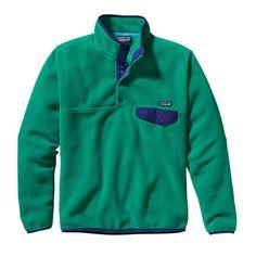 Patagonia Men\'s Lightweight Synchilla\u00AE Snap-T\u00AE Fleece Pullover - Emerald EMRD