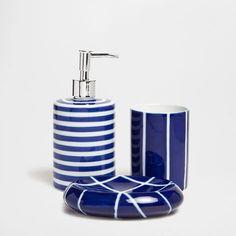 Blue Ceramic Bathroom Set - Accessories - Bathroom | Zara Home United States