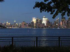 The NYC skyline from a Liberty Island #wedding