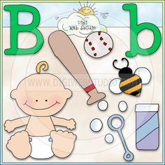 Alphabet Letter B - NE Cheryl Seslar Clip Art