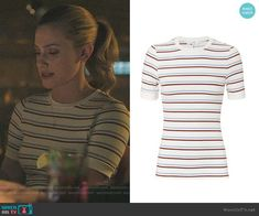Frame Striped Tee worn by Betty Cooper (Lili Reinhart) on Riverdale Betty Cooper Style, Betty Cooper Outfits, Teenager Outfits, Girly Outfits, Classy Outfits, Betty Cooper Riverdale, Riverdale Betty, Betty Who, Riverdale Fashion