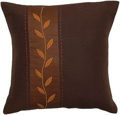 Pillows with an offset pattern add a little extra zest in a room.  $30 & free shipping  #pillows #pattern #brownpillows