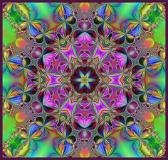 Nice color contrast and complementation. Zen Doodle, Doodle Art, Yin Yang, Kaleidoscope Images, Mudras, Art Therapy Projects, Visionary Art, Psychedelic Art, Animal Tattoos