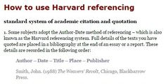 essay writing and harvard referencing guide