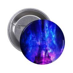 Creation's Heaven Paris Amethyst Dreams Pinback Button