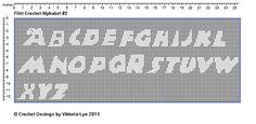 Ravelry: FREE Filet Crochet Alphabet 2 pattern by Viktoria-Lyn