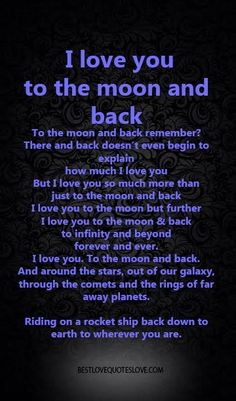 I Love you to the moon and back | Galaxies Vibes