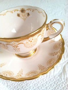 Vintage Bone China Tuscan Tea Cup and by MariasFarmhouse on Etsy, $65.00